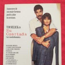 Cine: GUIA: SU COARTADA. CON: HER ALIBI - BRUCE BERESFORD - TOM SELLECK - PAULINA PORIZKOVA. Lote 257511805