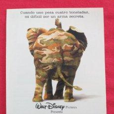 Cine: GUÍA PUBLICITARIA DE LA PELÍCULA: OPERACIÓN ELEFANTE. PELICULA DE WALT DYSNEY PICTURES.. Lote 257564655