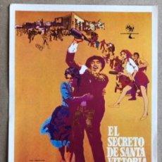 Cine: EL SECRETO DE SANTA VICTORIA - STANLEY KRAMER, ANTHONY QUINN,.. - GUÍA ORIGINAL DE LA PELÍCULA.. Lote 127729575