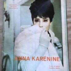 Cine: ANNA KARENINA, ALEKSANDR ZARKHI (URSS, 1967). REVISTA PROMOCIONAL DE LA PELÍCULA. RUSO, CASTELLANO,I. Lote 135786158