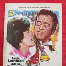 Cine: GUIA: EL PRISIONERO DE LA SEGUNDA AVENIDA. CON: JACK LEMMON, ANNE BANCROFT. AÑO 1975. Lote 257849165