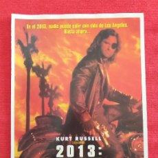 Cine: GUIA PUBLICITARIA: 2013, RESCATE EN LOS ANGELES. JOHN CARPENTER,1996. Lote 257850865