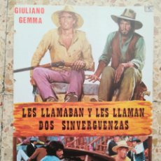 Cinéma: LES LLAMABAN Y LES LLAMAN DOS SINVERGUENZAS. Lote 258097540