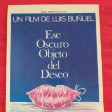Cine: GUIA PUBLICITARIA. ESE OSCURO OBJETO DEL DESEO. LUIS BUÑUEL. CON FERNANDO REY, ANGELA MOLINA. Lote 258967585