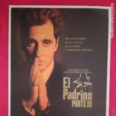 Cine: GUIA PUBLICITARIA DOBLE: EL PADRINO. III PARTE. AL PACINO, FRANCIS F COPPOLA. ANDY GARCIA.. Lote 262910045