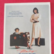 Cine: GUIA DOBLE: BABY, TÚ VALES MUCHO. DIANE KEATON, SAM SHEPARD, HAROLD RAMIS. U.I.P.. Lote 263152500