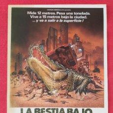 Cine: GUIA SIMPLE: LA BESTIA BAJO EL ASFALTO. CON: ROBERT FORSTER, ROBIN RIKER. AÑO 1981. Lote 263154065