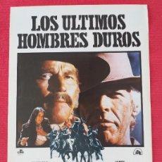 Cine: GUIA SIMPLE: LOS ULTIMOS HOMBRES DUROS. CON: CHARLTON HESTON, JAMES COBURN. Lote 263154390