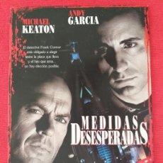 Cine: GUIA PUBLICITARIA: MEDIDAS DESESPERADAS. CON: MICHAEL KEATON Y ANDY GARCIA. TRÍPTICO. Lote 263154610