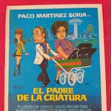 Cine: GUIA SIMPLE: EL PADRE DE LA CRIATURA. PACO MARTINEZ SORIA. AÑO 1972. Lote 263154990