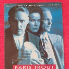 Cine: GUIA DOBLE: PARIS TROUT. CON: STEPHEN GYLLENHAAL, DENNIS HOPPER, BARBARA HERSHEY. FILMAX. Lote 263155605