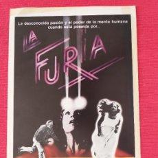 Cine: GUIA SIMPLE: LA FURIA. THE FURY. BRIAN DE PALMA, KIRK DOUGLAS, JOHN CASSAVETES, CHARLES DURNING.. Lote 263155880