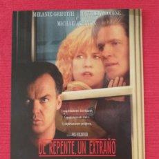 Cine: GUIA SIMPLE: DE REPENTE, UN EXTRAÑO. MELANIE GRIFFITH, MICHAEL KEATON, DE JOHN SCHLESINGER. Lote 263159870