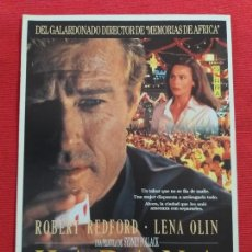Cine: GUIA PUBLICITARIA DOBLE: HABANA. CON: ROBERT REDFORT Y LENA OLIN. Lote 263580930