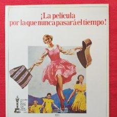 Cine: GUIA PUBLICITARIA ORIGINAL DE LA PELÍCULA: SONRISAS Y LAGRIMAS. CON: JULIE ANDREWS.0. Lote 264195292
