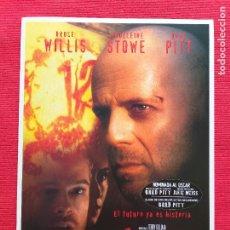 Cine: GUIA DOBLE: 12 MONOS. CON: BRAD PITT, BRUCE WILLIS. DIR. TERRY WILLIAM. Lote 264359824