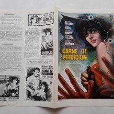 Cinema: GUIA PUBLICITARIA CINE CARNE DE PERDICION RV G101. Lote 265949073