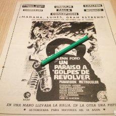 Cine: UN PARAÍSO A GOLPE DE REVOLVER - ANTIGUO ANUNCIO DE CINE 23/1/73 - RECORTE DE PERIÓDICO ABC. Lote 266454133
