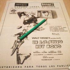 Cine: UN EJECUTIVO MUY MONO - ANTIGUO ANUNCIO DE CINE 23/01/73 - RECORTE DE PERIÓDICO ABC. Lote 266454188