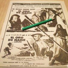 Cine: EL ORO DE NADIE - ANTIGUO ANUNCIO DE CINE 23/01/73 - RECORTE DE PERIÓDICO ABC. Lote 266454238