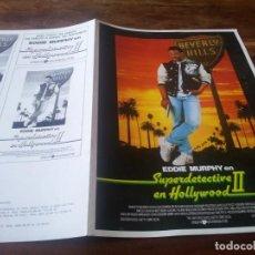 Cine: SUPERDETECTIVE EN HOLLYWOOD II - EDDIE MURPHY, BRIGITTE NIELSEN - GUIA ORIGINAL U.I.P 1987. Lote 266793969