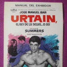 Cinéma: GUIA PUBLICITARIA CINE URTAIN, EL REY DE LA SELVA... O ASI JOSE MANUEL IBAR SUMMERS BOXEO G807. Lote 267069069