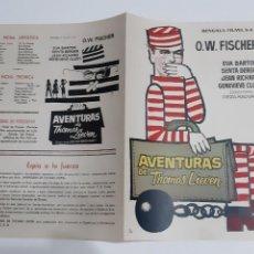 Cinema: ANTIGUA GUIA PUBLICITARIA CINE AVENTURAS DE THOMAS LIEVEN MONTALBAN G153 RV. Lote 267845804