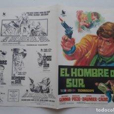 Cinema: ANTIGUA GUIA PUBLICITARIA CINE EL HOMBRE DEL SUR JOSE CALVO JANO G238 RV. Lote 268448044