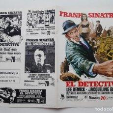 Cinema: ANTIGUA GUIA PUBLICITARIA CINE FRANK SINATRA EL DETECTIVE JACQUELINE BISSET JANO G250 RV. Lote 268464519