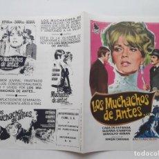 Cinema: ANTIGUA GUIA PUBLICITARIA CINE LOS MUCHACHOS DE ANTES JANO G251 RV. Lote 268464649
