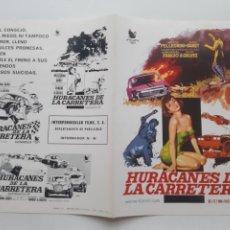 Cinema: ANTIGUA GUIA PUBLICITARIA CINE HURACANES DE LA CARRETERA DORA BARET JANO G253 RV. Lote 268465024