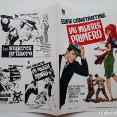 Cinema: ANTIGUA GUIA PUBLICITARIA CINE LAS MUJERES PRIMERO JANO G256 RV. Lote 268465644