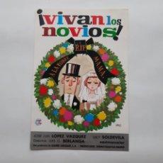 Cinema: ANTIGUA GUIA PUBLICITARIA CINE VIVAN LOS NOVIOS BERLANGA G287 RV. Lote 268586699