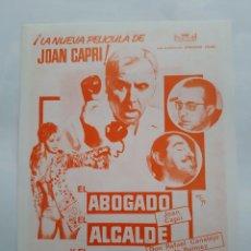 Cine: ANTIGUA GUIA PUBLICITARIA CINE EL ABOGADO EL ALCALDE Y EL NOTARIO RV G319. Lote 268898839