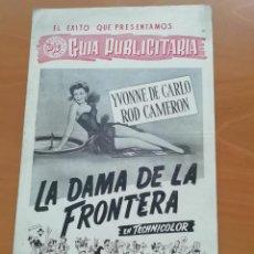 Cine: LOTE GUÍAS PUBLICITARIAS ASTORIA FILMS - LA DAMA DE LA FRONTERA Y EL MERCADER DE ESCLAVAS. Lote 268951914