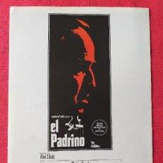 Cine: GUIA PUBLICITARIA DOBLE: EL PADRINO. CON: MARLON BRANDO. Lote 268966194