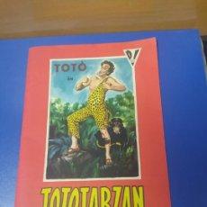 Cine: ANTIGUO PROGRAMA DE CINE DESPLEGABLE TOTOTARZAN TOTO TARZAN EN VARIOS IDIOMAS. Lote 269280368
