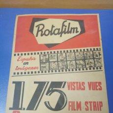 Cine: ANTIGUO CARTEL PUBLICIDAD EN CARTON ROTAFILM ESPAÑA EN IMAGENES 175 VISTAS. Lote 269282113