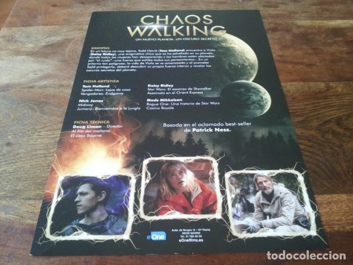 Cine: Chaos Walking - Daisy Ridley, Tom Holland, Mads Mikkelsen, Demian Bichir - guia original eone 2021 - Foto 2 - 269320848