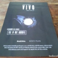 Cine: VIVO - ANDREA ARGILES, ANTONIO DE SANTIAGO, JORGE PAREJA - GUIA ORIGINAL BOSCO 2021. Lote 269321128