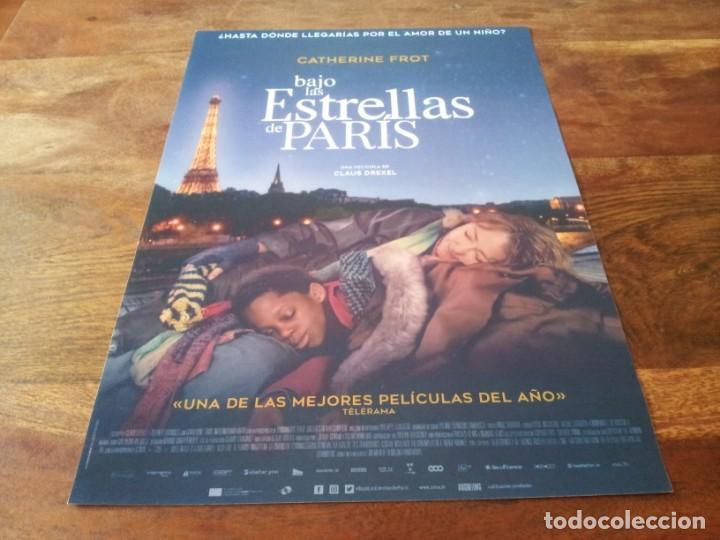 BAJO LAS ESTRELLAS DE PARÍS - CATHERINE FROT,DOMINIQUE FROT,MAHAMADOU YAFA - GUIA ORIGINAL ADSO 2020 (Cine - Guías Publicitarias de Películas )