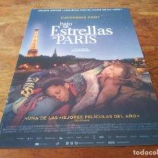 Cine: BAJO LAS ESTRELLAS DE PARÍS - CATHERINE FROT,DOMINIQUE FROT,MAHAMADOU YAFA - GUIA ORIGINAL ADSO 2020. Lote 269321288