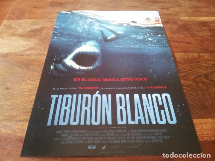 TIBURON BLANCO - KATRINA BOWDEN, AARON JAKUBENKO, TIM KANO - GUIA ORIGINAL ACONTRA 2021 (Cine - Guías Publicitarias de Películas )