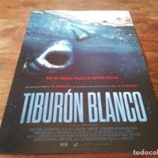 Cine: TIBURON BLANCO - KATRINA BOWDEN, AARON JAKUBENKO, TIM KANO - GUIA ORIGINAL ACONTRA 2021. Lote 269321378