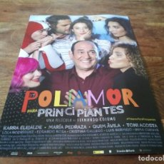 Cine: POLIAMOR PARA PRINCIPIANTES - KARRA ELEJALDE, TONI ACOSTA,MARIA PEDRAZA - GUIA ORIGINAL VERTICE 2021. Lote 269321468