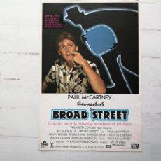 Cine: PAUL MCCARTNEY GUIA CINE 18 X 25 RECUERDOS A BROAD STREET 1984. Lote 270567908