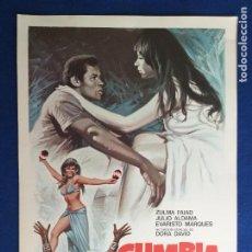Cine: GUIA DOBLE: CUMBIA. ZULMA FAIAD, JULIO ALDAMA, EVARISTO MARQUES. Lote 274170568