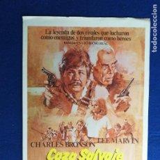 Cine: GUIA PUBLICITARIA SIMPLE: CAZA SALVAJE. CON: CHARLES BRONSON Y LEE MARVIN. Lote 274170828