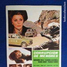 Cine: GUIA PUBLICITARIA SIMPLE. CORRUPCION DE MENORES. GIOVANNA RALLI, CLAUDIO CASSINELLI. Lote 274171698