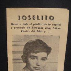 Cine: ESCUCHA MI CANCION - JOSELITO - LUZ MARQUEZ - 20 PP, , 13 FOTOGRAMAS. Lote 276048853